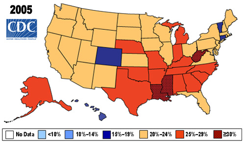 A View Of The US Obesity Epidemic NIH Directors Blog - Map of obesity us