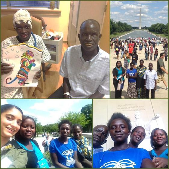Photos of the family from Uganda