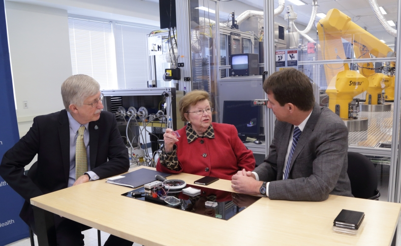 Senator Mikulski during her tour of NCATS
